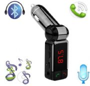 Hands-free Wireless Bluetooth Car FM Radio Transmitter with Charger